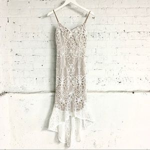 Dresses & Skirts - DO+BE White High Low Lace Dress Like-New SMALL